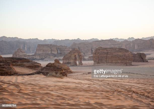 Elephant rock in madain saleh archaeologic site Saudi arabia Al Madinah Province AlUla Saudi Arabia on January 26 2010 in Alula Saudi Arabia