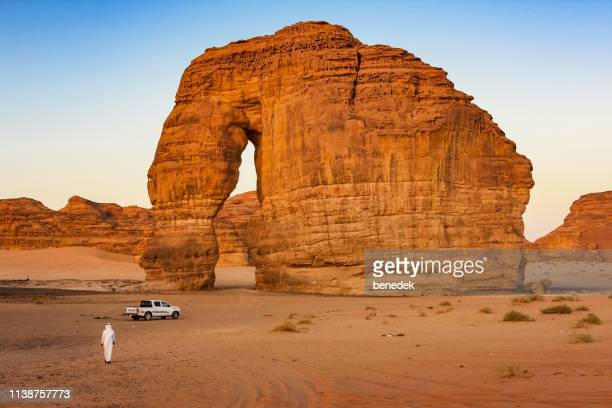 elephant rock near al ula saudi arabia - saudi stock pictures, royalty-free photos & images