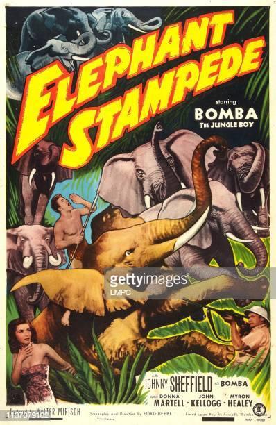 Elephant Stampede poster US poster Johnny Sheffield Donna Martell John Kellogg 1951