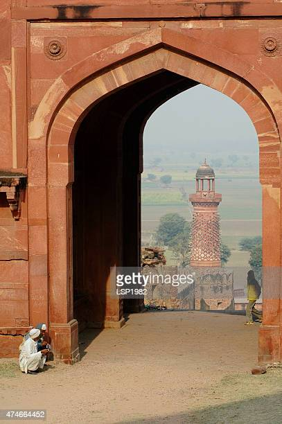 elephant tower. fatehpur sikri, india. - fatehpur sikri stock pictures, royalty-free photos & images