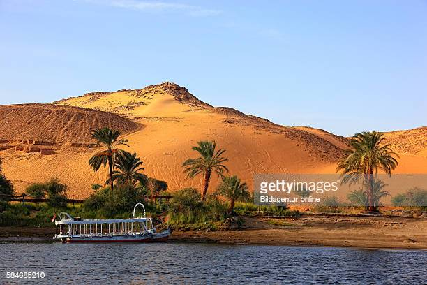 Elephantine Island Scenery at River Nile between Aswan and the Nubian villages Upper Egypt