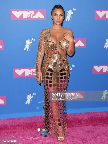 Elettra Lamborghini attends the 2018 MTV Video Music Awards at Radio City Music Hall on August 20 2018 in New York City