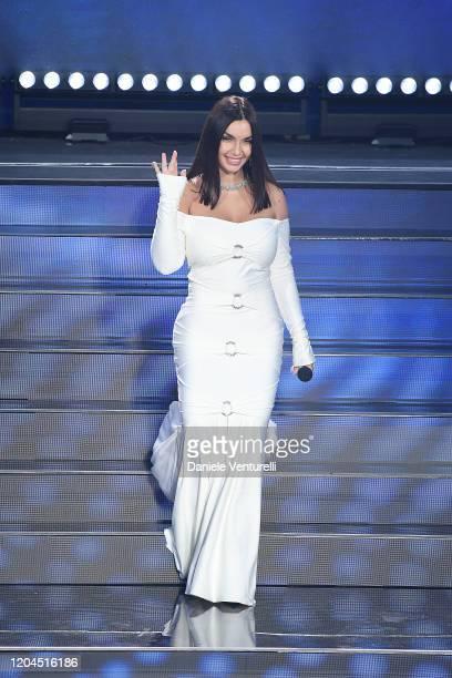 Elettra Lamborghini attends the 70° Festival di Sanremo at Teatro Ariston on February 06 2020 in Sanremo Italy