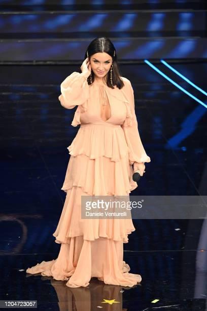 Elettra Lamborghini attends the 70° Festival di Sanremo at Teatro Ariston on February 07 2020 in Sanremo Italy