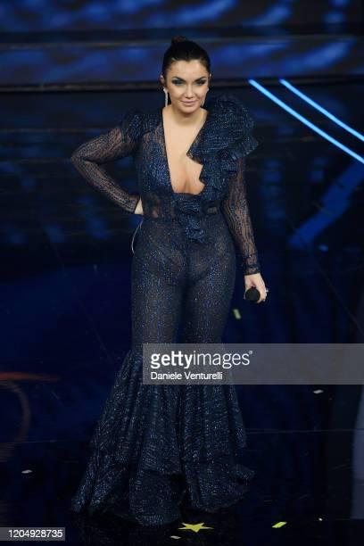 Elettra Lamborghini attends the 70° Festival di Sanremo at Teatro Ariston on February 08 2020 in Sanremo Italy