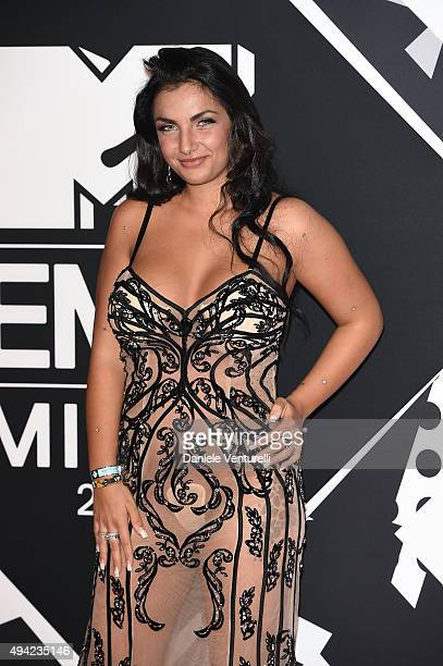 Elettra Lamborghini attends the MTV EMA's 2015 at Mediolanum Forum on October 25 2015 in Milan Italy