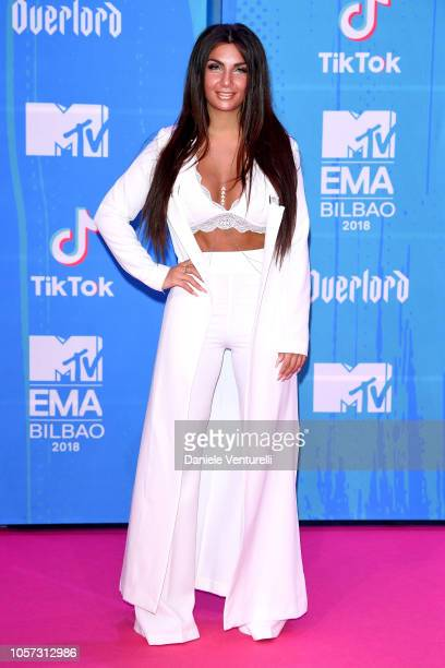 Elettra Lamborghini attends the MTV EMAs 2018 on November 4 2018 in Bilbao Spain