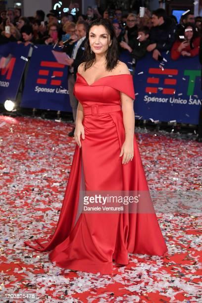 Elettra Lamborghini attends the opening red carpet at the 70° Festival di Sanremo at Teatro Ariston on February 03 2020 in Sanremo Italy