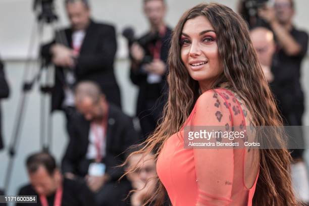 Elettra Lamborghini walks the red carpet ahead of the The Laundromat screening during the 76th Venice Film Festival at Sala Grande on September 01...