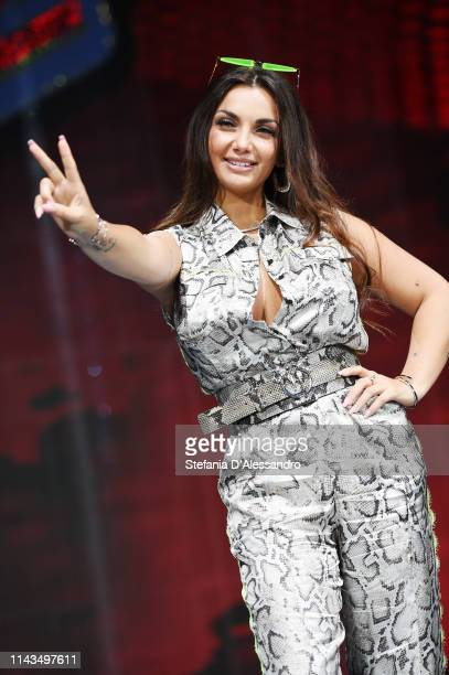 Elettra Miura Lamborghini attends a photocall to launch The Voice of Italy 2019 on April 18 2019 in Milan Italy