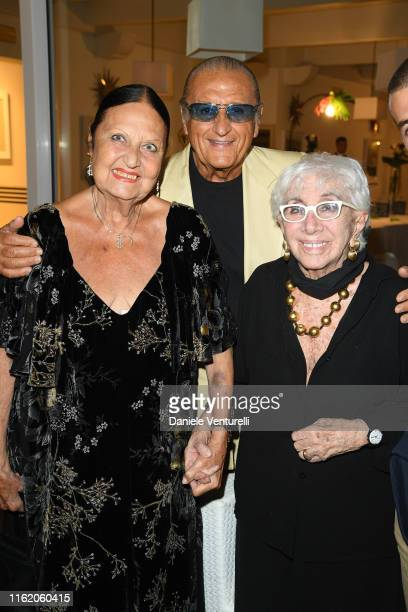 Elettra Morini Tony Renis and Lina Wertmuuller attends the 2019 Ischia Global Film Music Fest opening ceremony on July 14 2019 in Ischia Italy