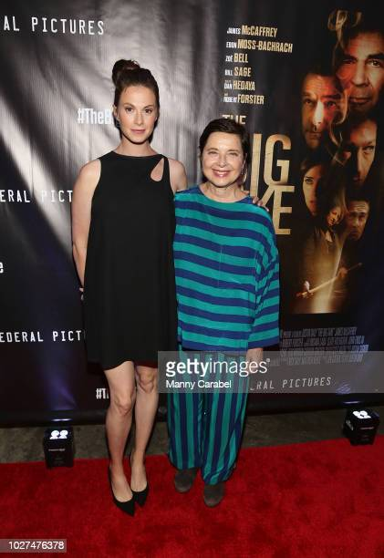Elettra Rossellini Wiedemann and Isabella Rossellini attend the World Premiere of The Big Take at Metrograph on September 5 2018 in New York City