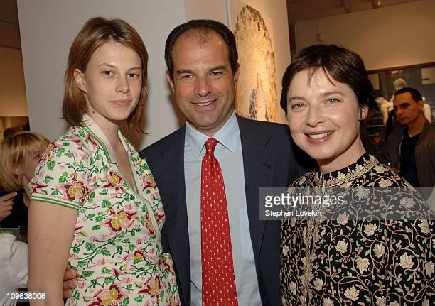Elettra Rossellini Wiedemann, Massimo Ferragamo and Isabella Rossellini