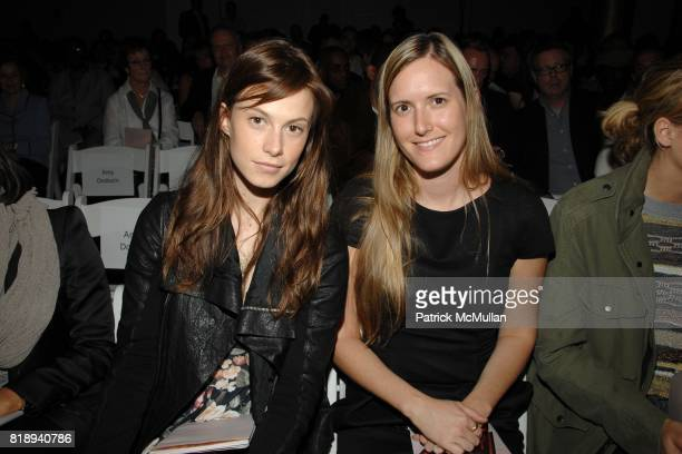Elettra Wiedemann and Jessica Nagel attend 2010 PRATT Institute Honors Catherine Malandrino Fashion Show at The Altman Building on May 13 2010 in New...