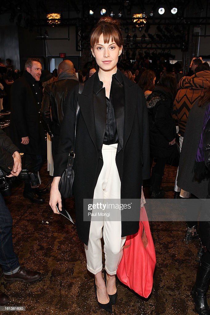 Elettra Wiedemann attends DKNY Women's during Fall 2013 Mercedes-Benz Fashion Week on February 10, 2013 in New York City.