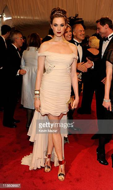 """Elettra Wiedemann attends the """"Alexander McQueen: Savage Beauty"""" Costume Institute Gala at The Metropolitan Museum of Art on May 2, 2011 in New York..."""