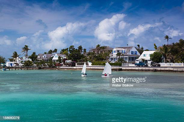 eleuthera island, harbour island, dunmore town - harbor island bahamas stock photos and pictures