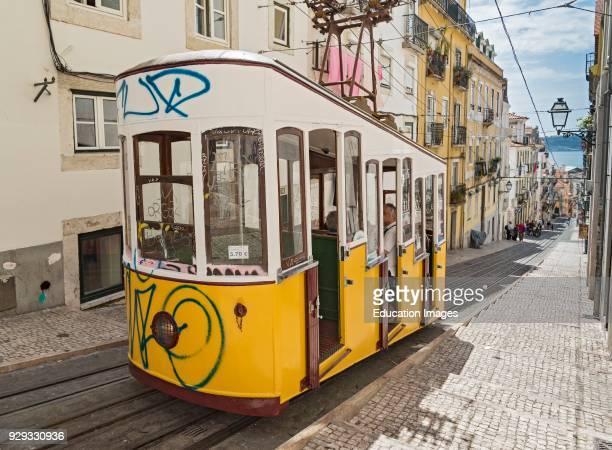 Elevador da Bica Funicular Lisbon Portugal
