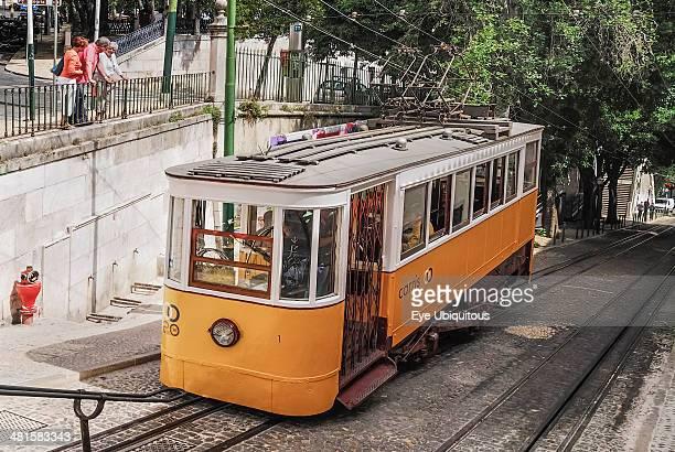 Elevador da Gloria the Gloria Funicular tram Lisbon