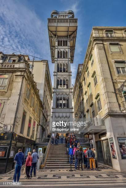 Elevador de Santa Justa Elevator '', Rua do Ouro, Lisbon, PortugalÊ, Aufzug «Elevador de Santa Justa«, Lissabon, Portugal.
