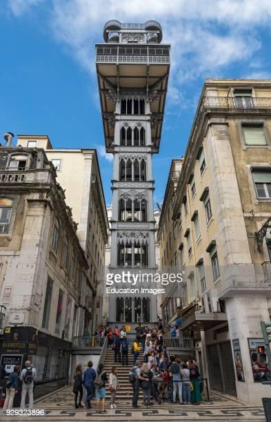 Elevador de Santa Justa Lift Lisbon Portugal