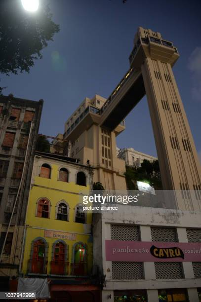 Elevador Lacerda is seen in Salvador Brazil 06 June 2014 The FIFA World Cup will take place in Brazil from 12 June to 13 July 2014 Photo Marcus...