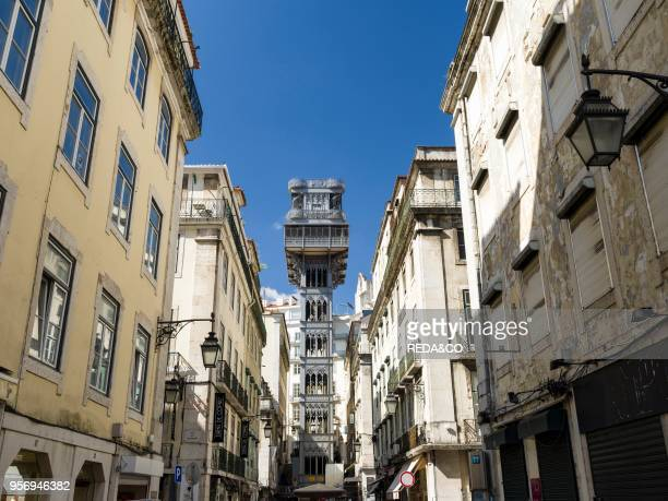 Elevador Santa Justa an icon in the Baixa Lisbon the capital of Portugal Europe Southern Europe Portugal March
