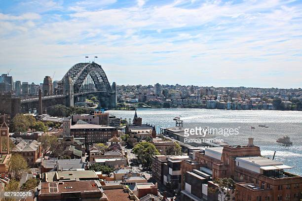 Elevated angle view of Sydney Harbour Bridge