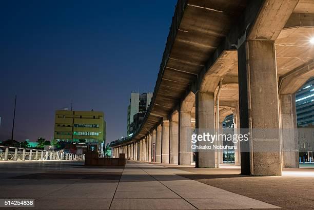 elevated bridge in Yokohama bayside