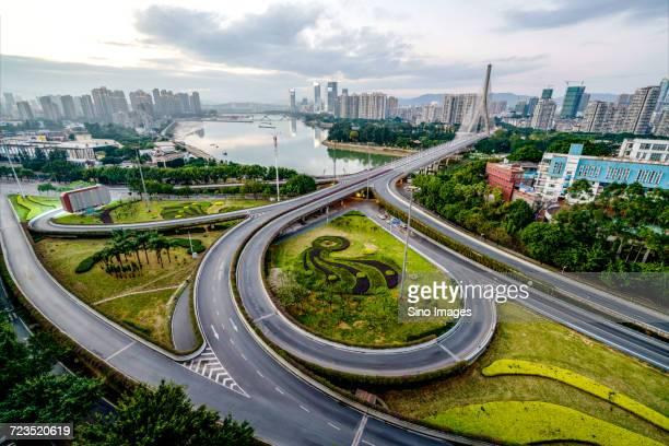 Elevated city road, Fuzhou, Fujian, China