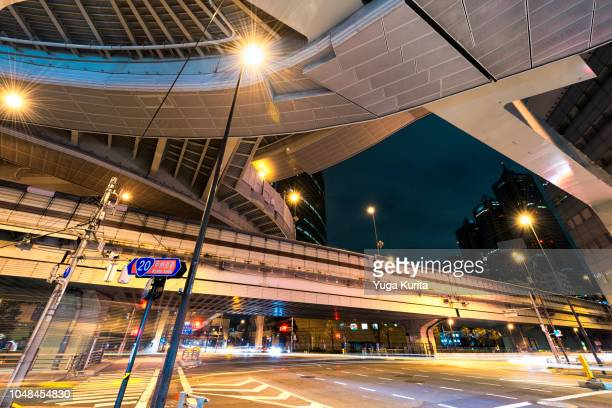 Elevated Expressway in Tokyo at Night