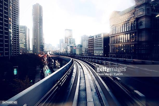 Elevated Railroad Track Passing Through City