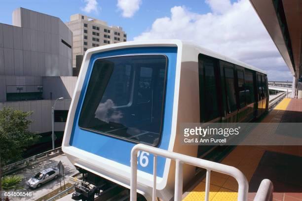 Elevated Railroad Train in Downtown Miami