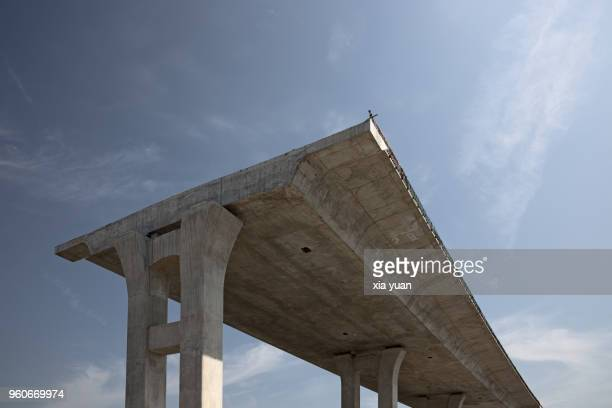 elevated road on construction - incomplete stock pictures, royalty-free photos & images