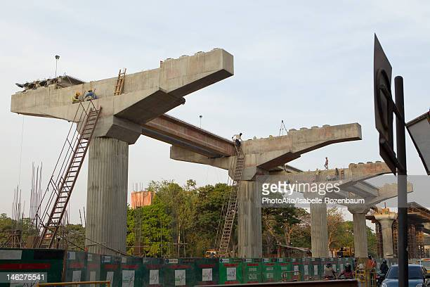 Elevated road under construction