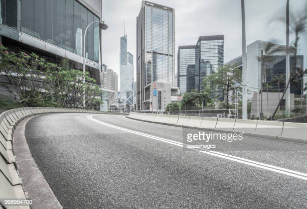 elevated road,hong kong - curvo foto e immagini stock