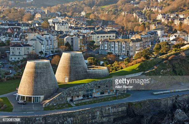 elevated skyline of ilfracombe in north devon - ilfracombe stock photos and pictures