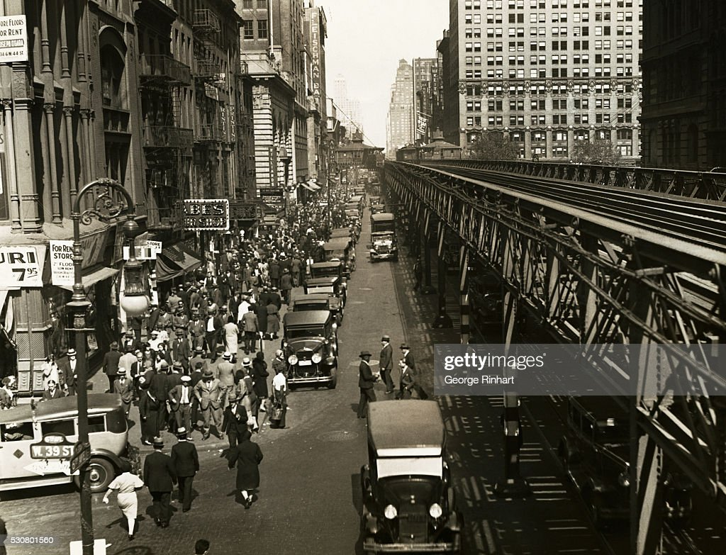 Elevated Train at 6th Avenue and West 39th Street