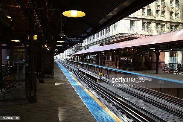 Elevated Train station in Chicago