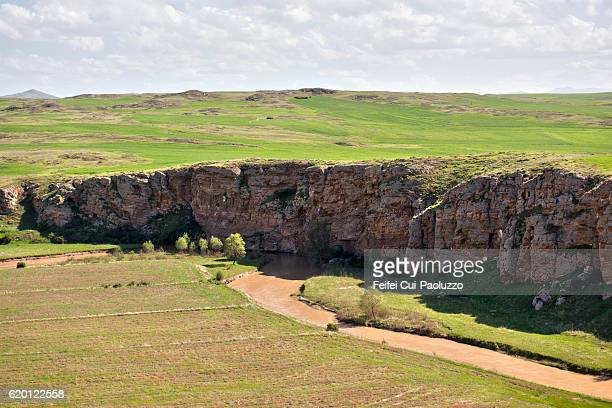 elevated view at countryside of zara in central anatolia of turkey - sivas stock pictures, royalty-free photos & images