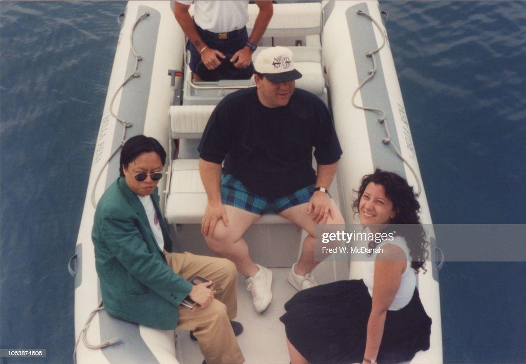 Shu, Weinstein, & Polkes In Cap d'Antibes : News Photo