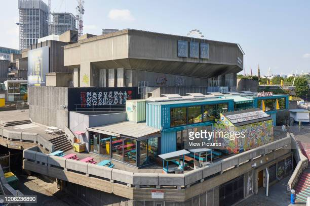 Elevated view from Waterloo Bridge across Southbank Centre Southbank Master Plan London United Kingdom Architect Mica Architects 2018