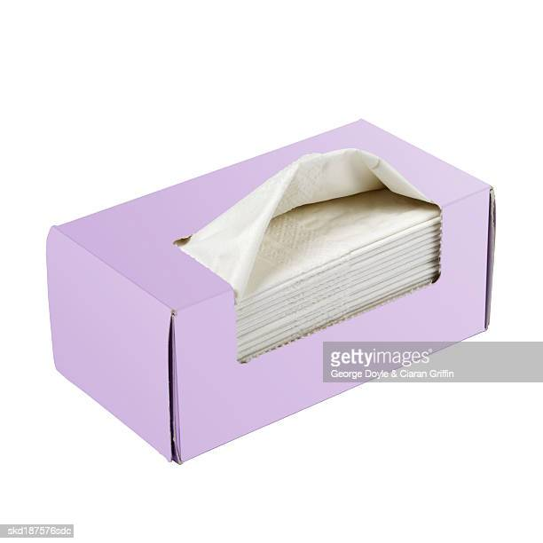 Elevated view of a box of tissues