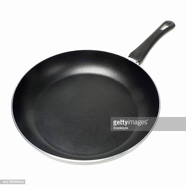 Elevated view of a frying pan