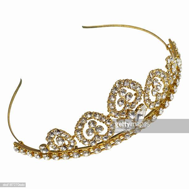 Elevated view of a gold tiara