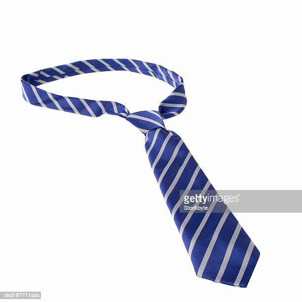 Elevated view of a school uniform tie