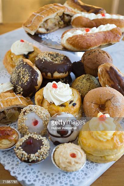 Elevated View of a Selection of South African Pastries