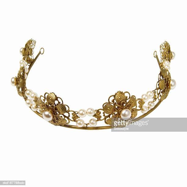 elevated view of a tiara - hoofddeksel stockfoto's en -beelden
