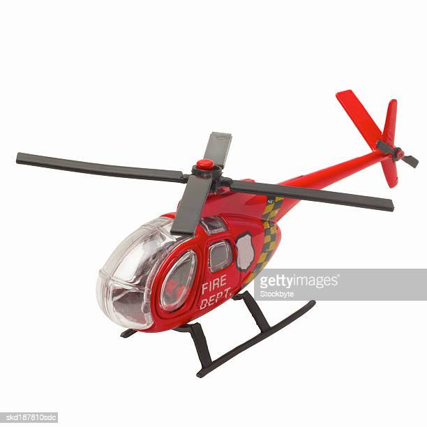 Elevated view of a toy helicopter