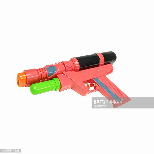 Elevated view of a water-pistol